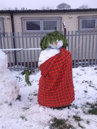 One of the winning snowmen!