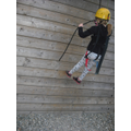 Abseiling Isobel!
