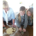 Cutting out the scones