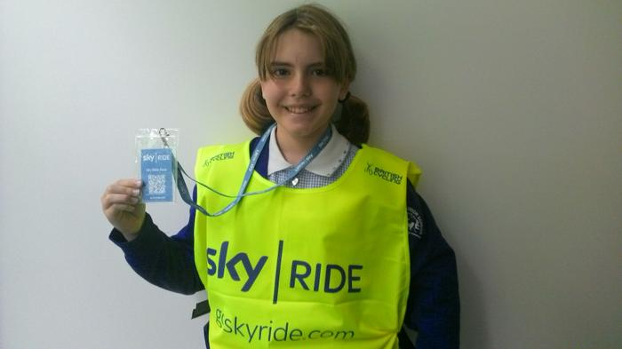 Amber - Took part in the Sky Ride