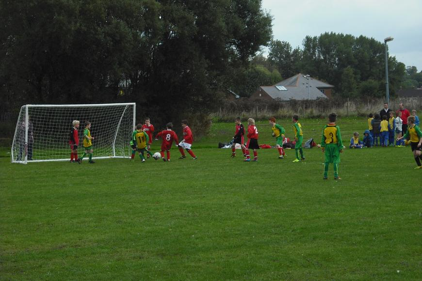 Cai Walklate slotting in a goal