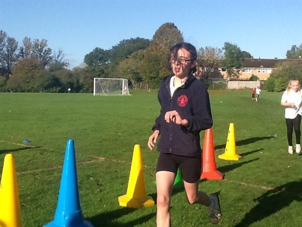 Bridie competiting in the cross country