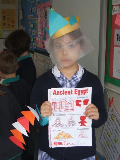 an Egyptian bracelet