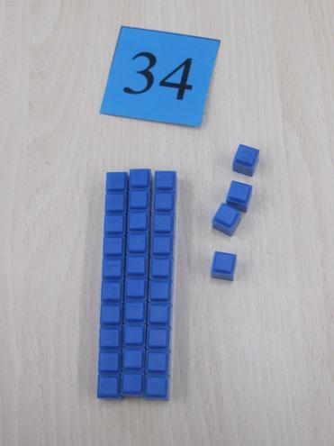 We used Dienes to make two digit numbers.