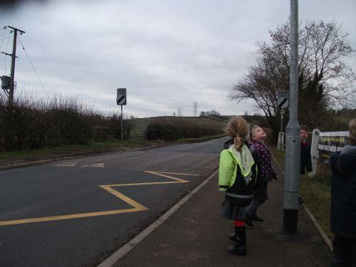 Zig zags to stop people parking outside our school