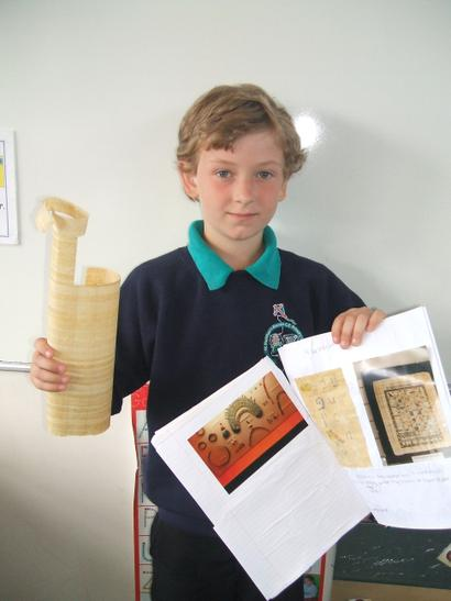 Egyptian project and papyrus
