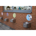 Water fountains in KS1 playground