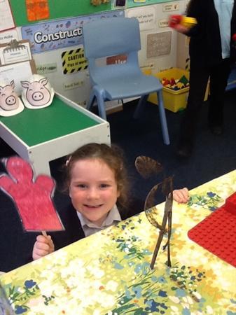 We made stick houses!