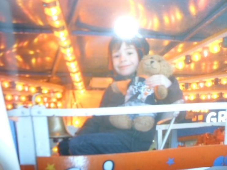 Jofli on a fairground ride! Yippee