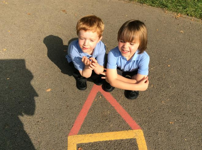 We have been learning about shapes and finding shapes in our environment. See how many shapes you can find at home. 1
