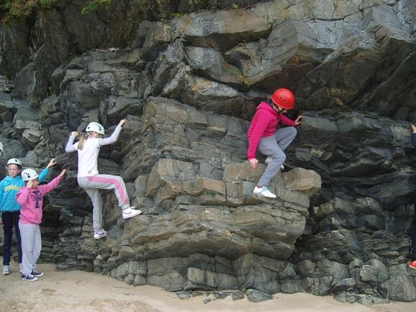 We went rock clambering at the beach!