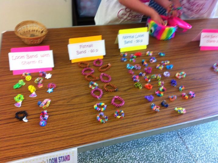 Lots of loom bands ready to be sold