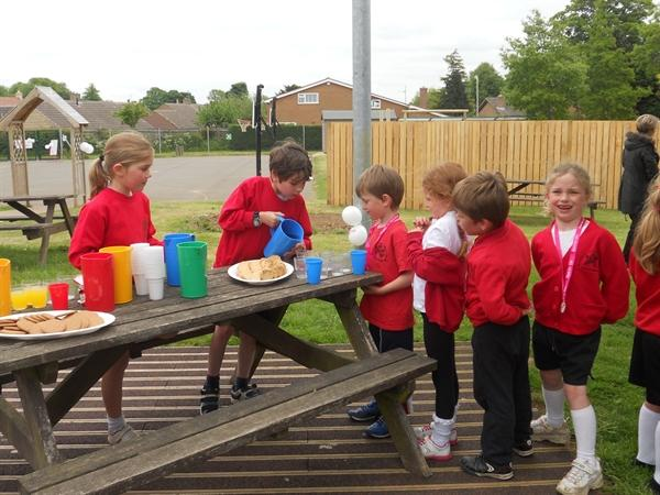 Class 3 organised a Race for Life to raise money