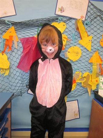 Some pupils dressed as Wilbur ...