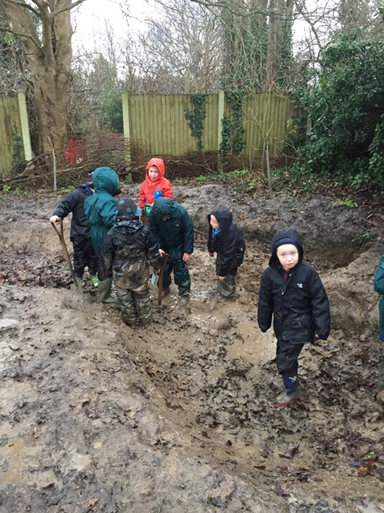 Digging in the muddy bog