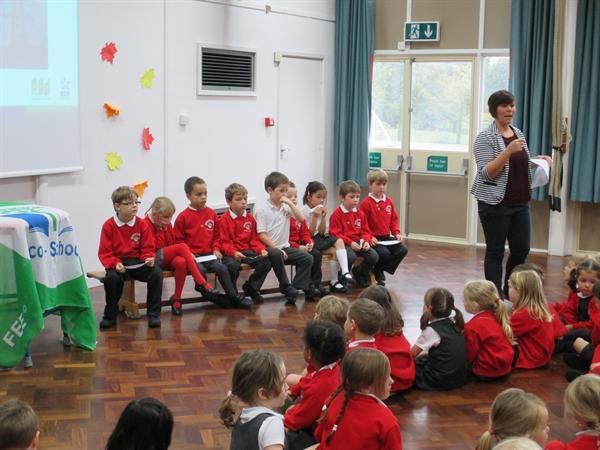 Miss Hayward leads the Eco Team!