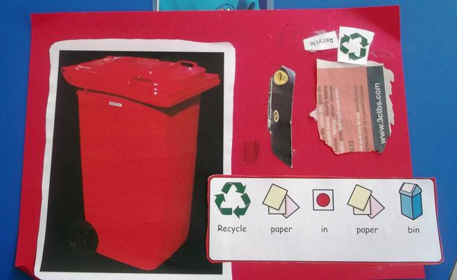 Making recycling posters