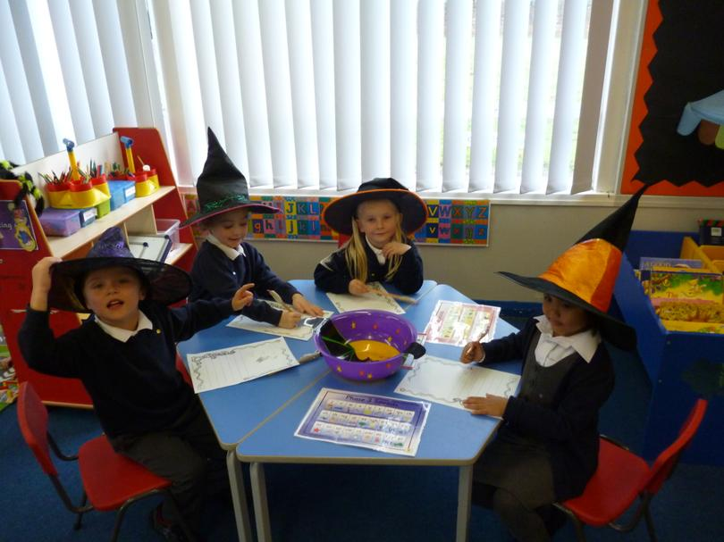 We wrote some spooky spells!