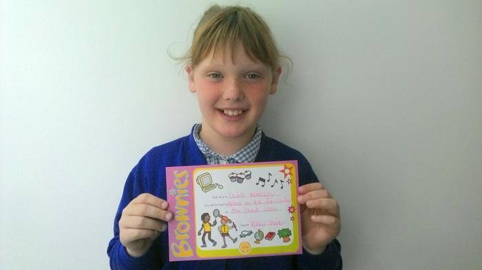 Olivia - taking part in the Fun Swim event