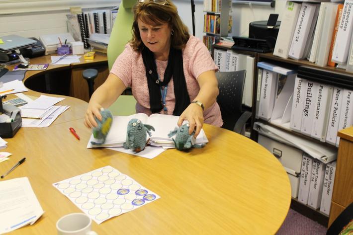 Bog Baby in Mrs Brown's office