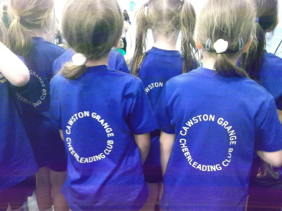 Our cheerleading t-shirts!