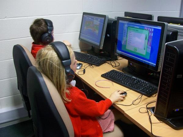 Working in the new ICT suite