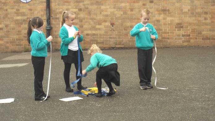 We used tape measures to measure height.