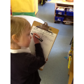 Hunting for flat and solid shapes. Using marks.