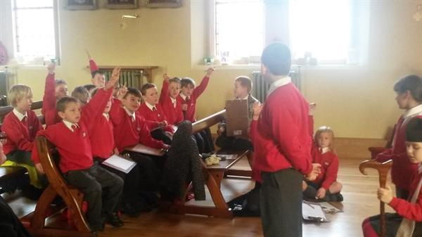 Year 4 trip to Church for a confirmation session!