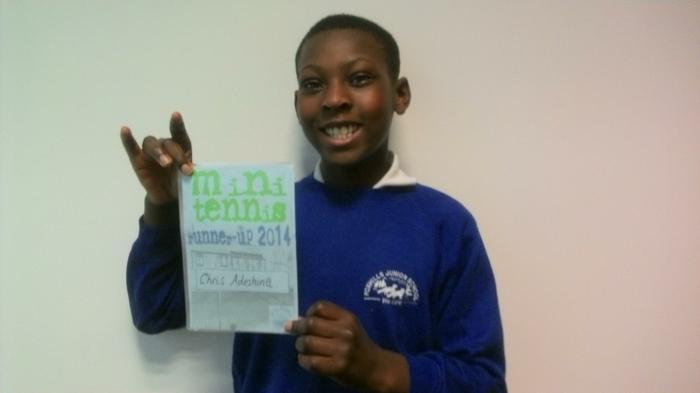 Christopher - LTA Tennis Winner: 2nd place!