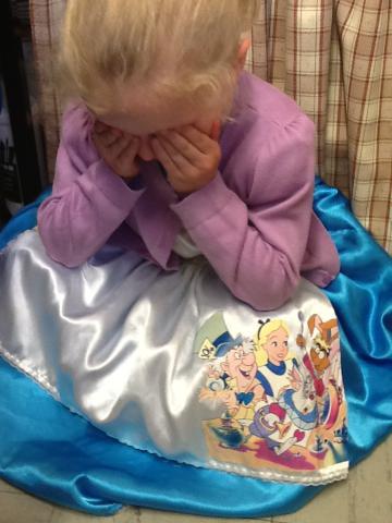 Alice was upset!