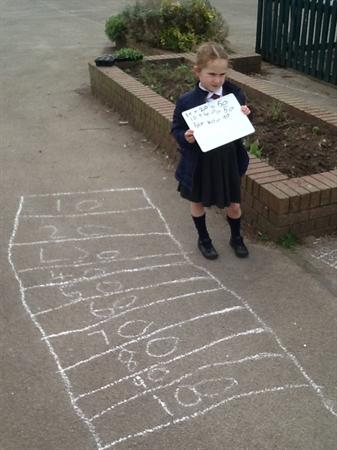 We had fab Numeracy learning outside!