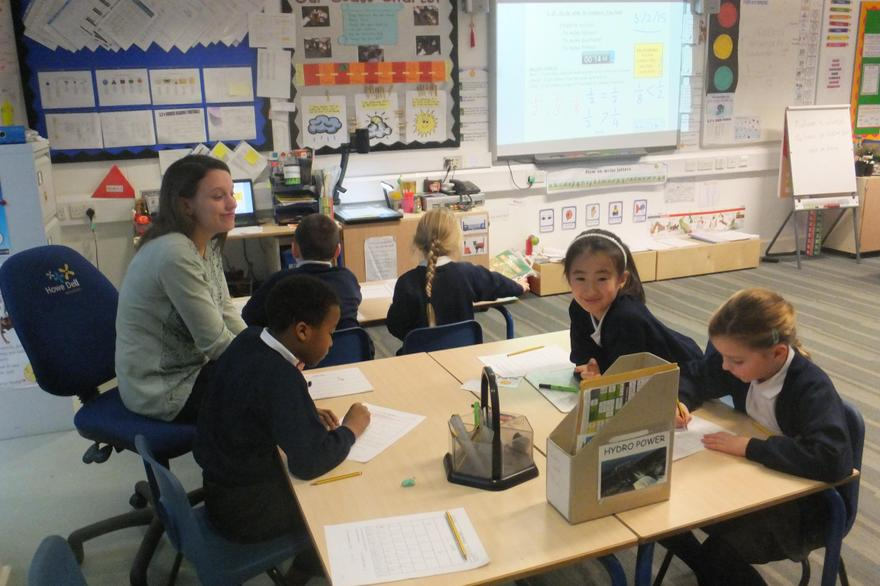 Group work with Y3 Maths