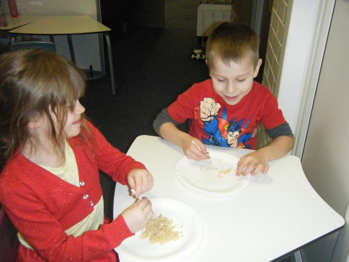 We enjoyed tasing noodles in different flavours.