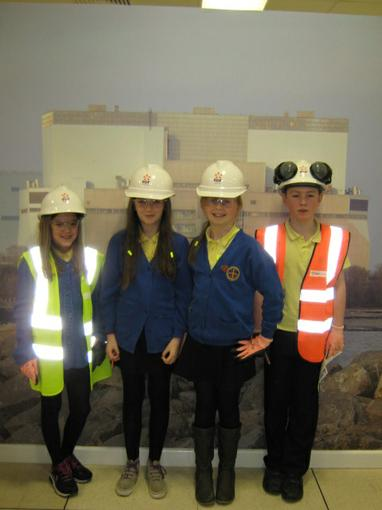 Looking the part at Hinkley Point!