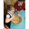 Making gingerbread-following recipes