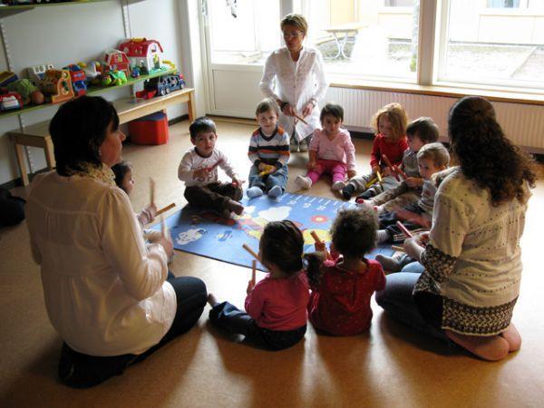 Bjorken pre-school rhythmics lesson