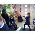 Beowulf role play - Isabelle's looking scary!