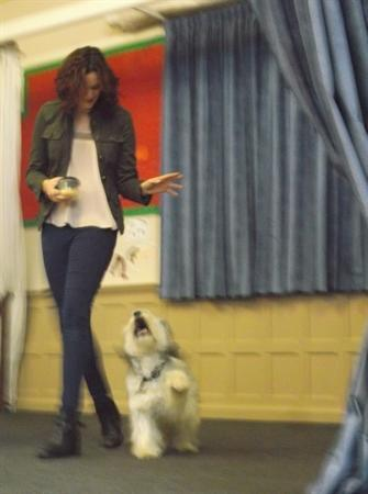Ashley and Pudsey visit Park!