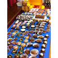 Just some of the cakes our generous families sent