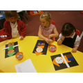 We made shape scarecrows