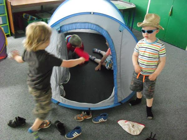 The boys and girls had great fun!