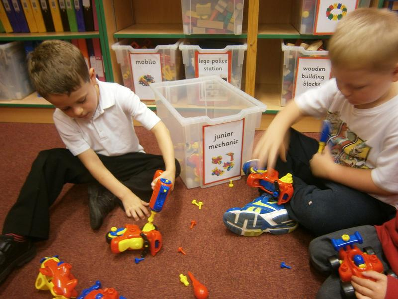 Using tools and assembling our vehicles