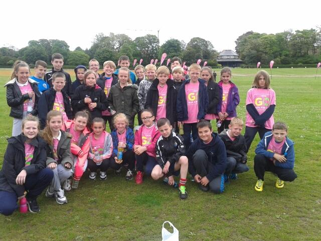 Children who took part in the fun run