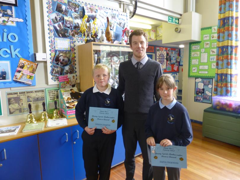 Cameorn and Sophie with Mr Taylor