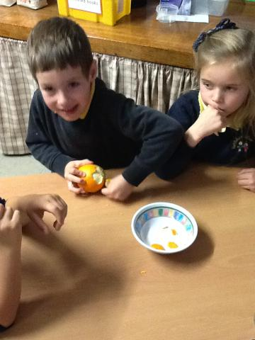 We peeled the skin off to see what would happen!