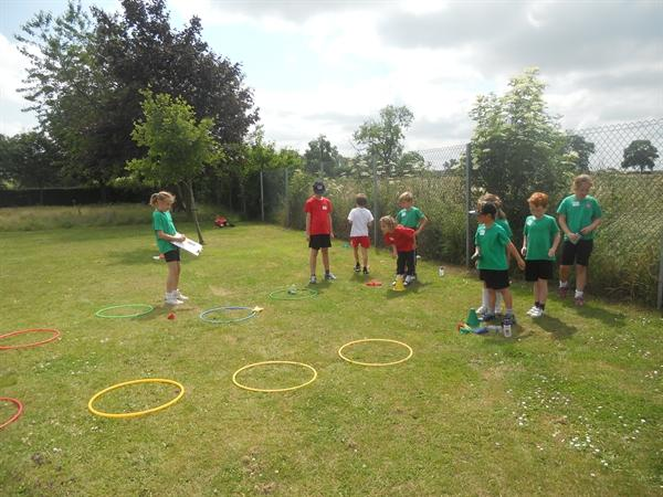 Fun together on our whole school multi s afternoon