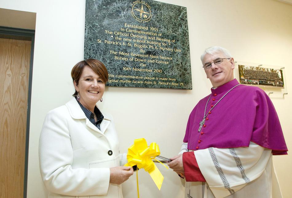 Bishop Noel Treanor & Caitríona Ruane