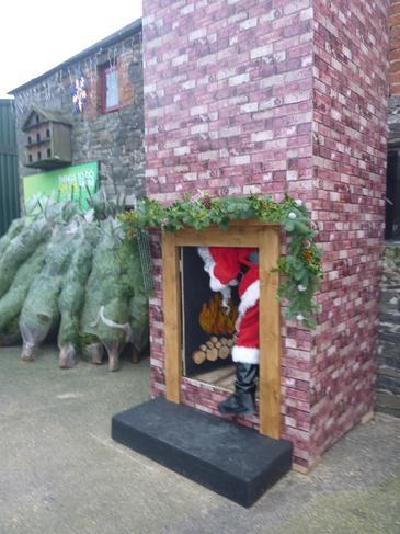 Santa got stuck up the chimney!