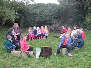 time for reflection in the log circle